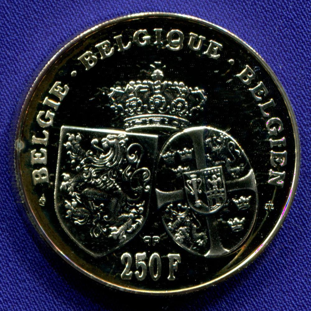 Бельгия 250 франков 1995 UNC 60 лет со дня смерти Королевы Астрид  - 1