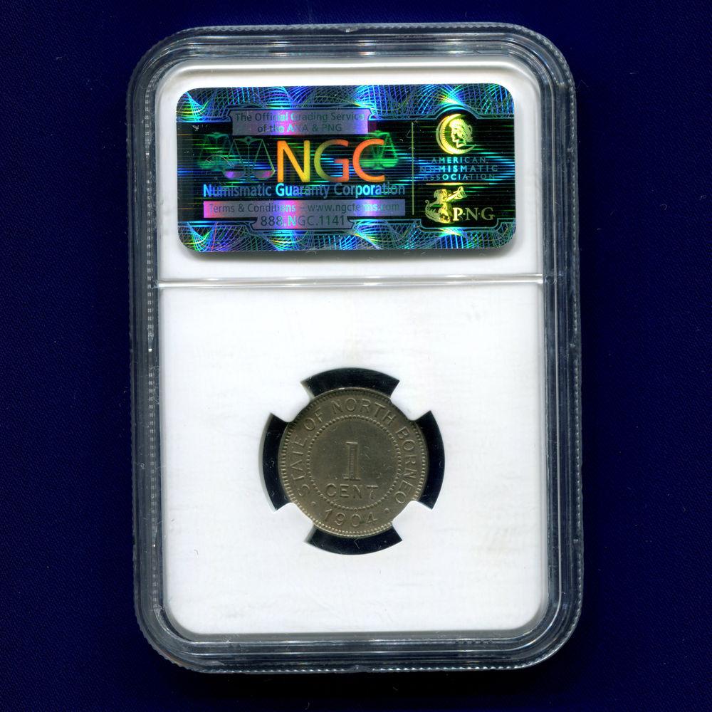 Британское Северное Борнео 1 цент 1904 NGS AU DETAILS  - 1