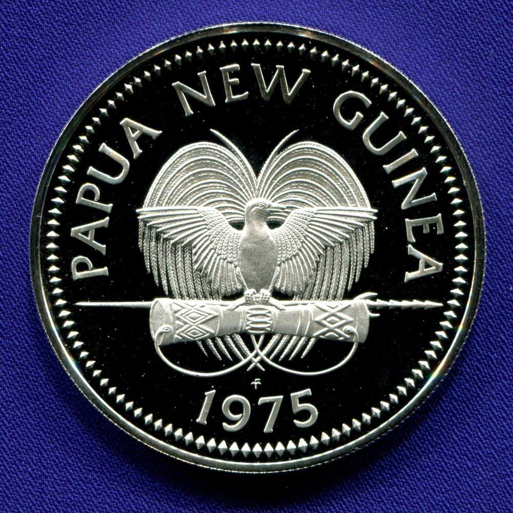 Папуа-Новая Гвинея 5 кина 1975 Proof - 1