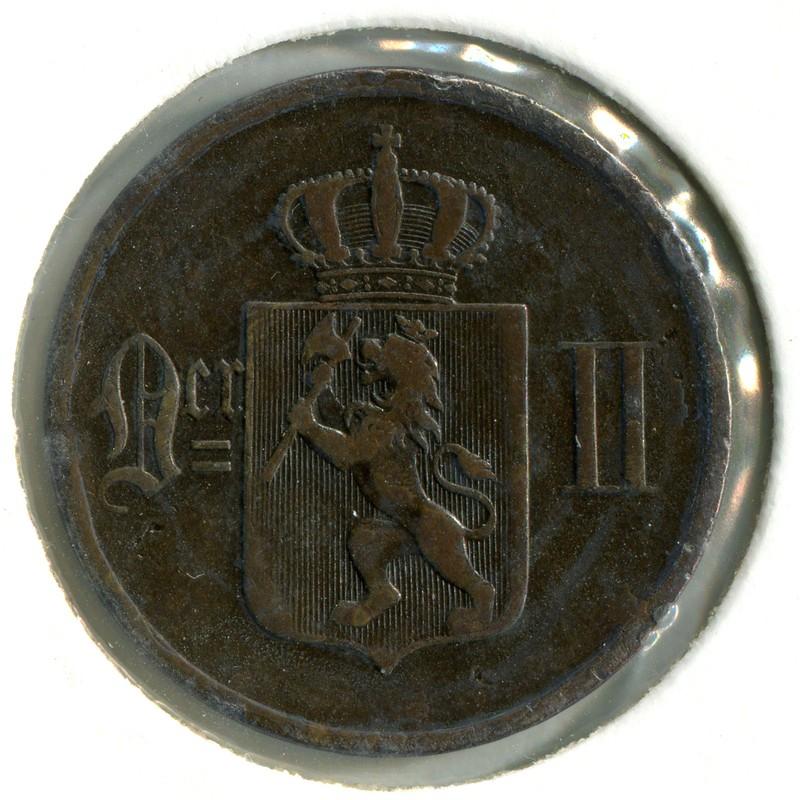 Норвегия 5 эре 1876 #349 - 1