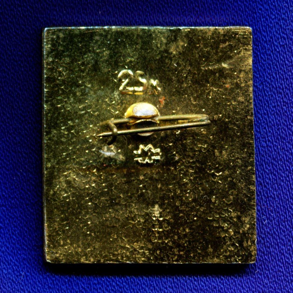 Детский значок «Часы с кукушкой» Легкий металл Булавка - 1