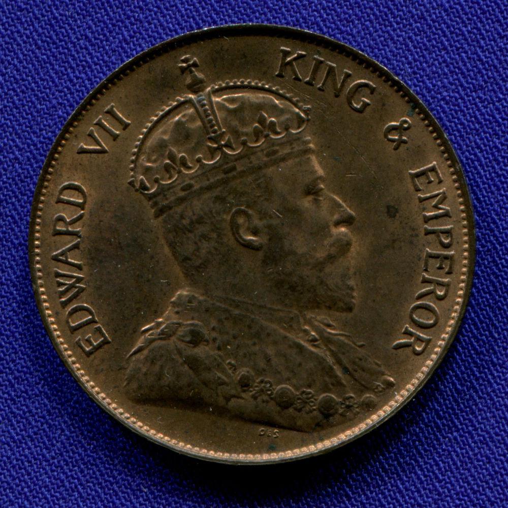 Гонконг 1 цент 1904 aUNC - 1