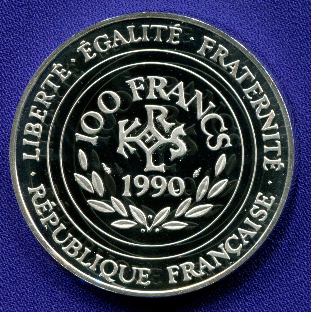 Франция 100 франков - 15 экю 1990 Proof Карл Великий  - 1