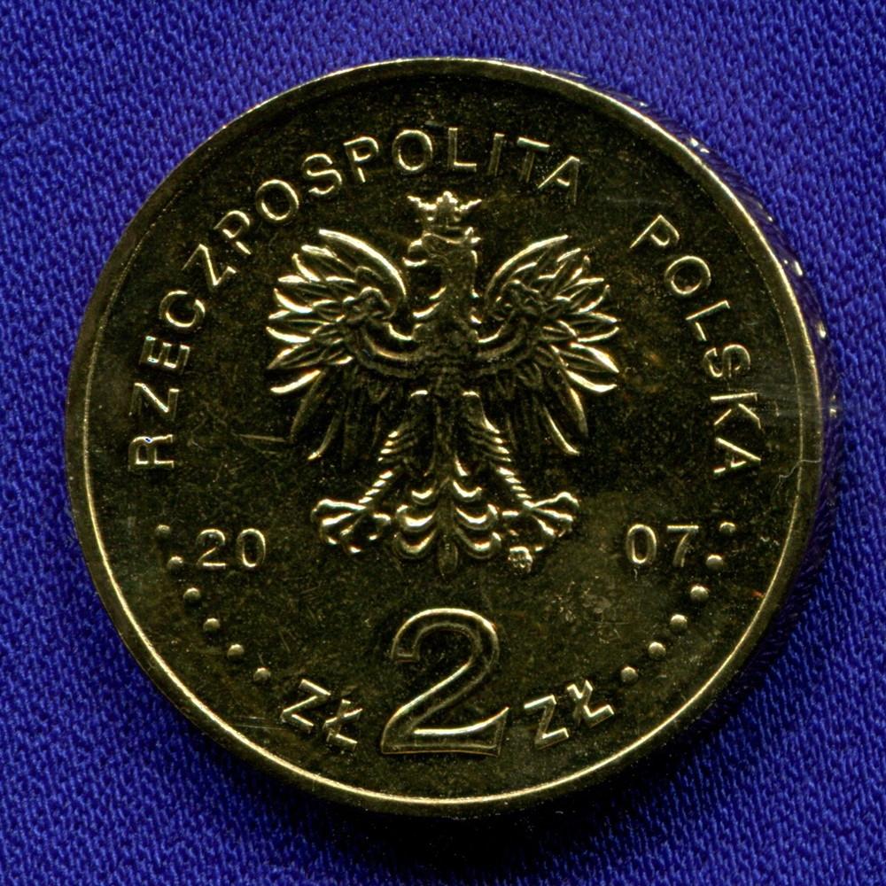 Польша 2 злотых 2007 UNC 750 лет Кракову - 1
