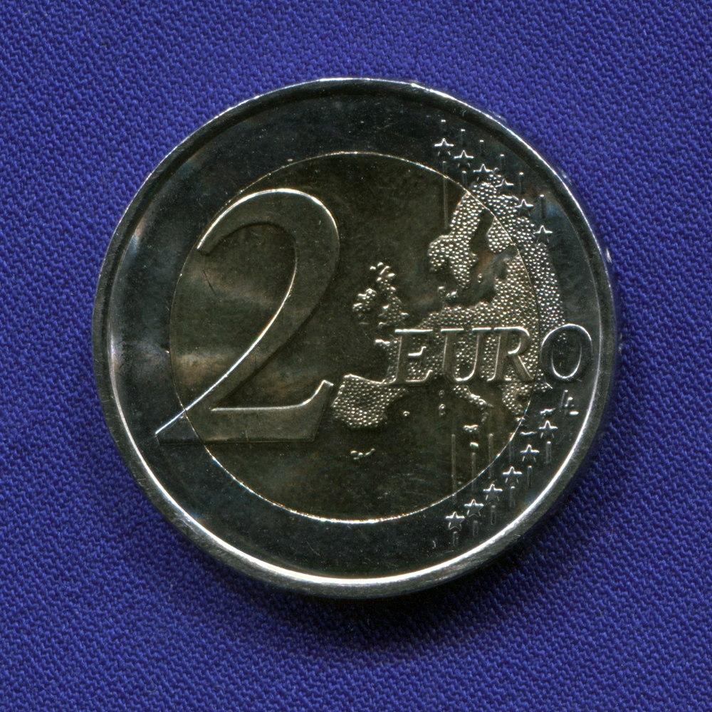 Испания 2 евро 2015 UNC 30 лет флагу ЕС  - 1