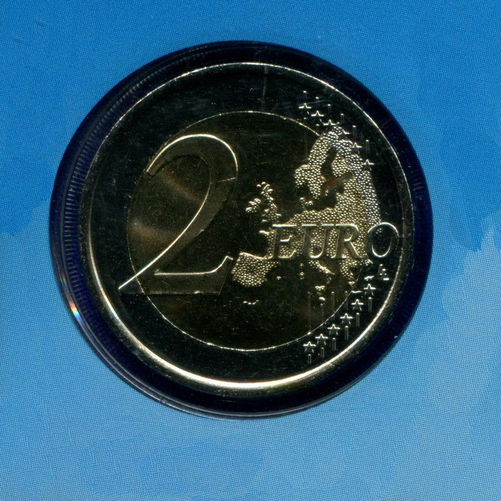 Андорра 2 евро 2014 UNC 20 лет вступления в Совет Европы  - 1