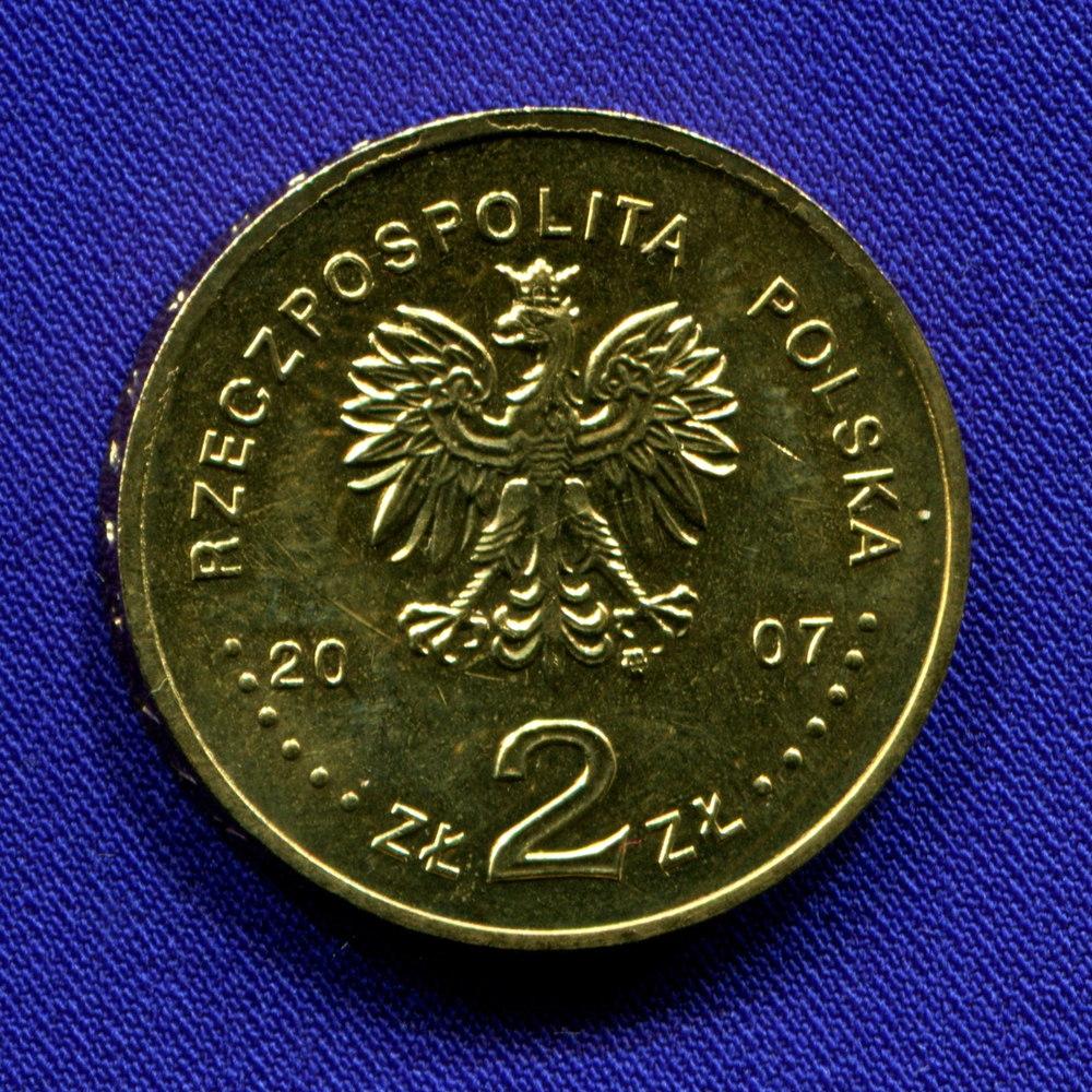 Польша 2 злотых 2007 UNC Кароль Шимановский  - 1