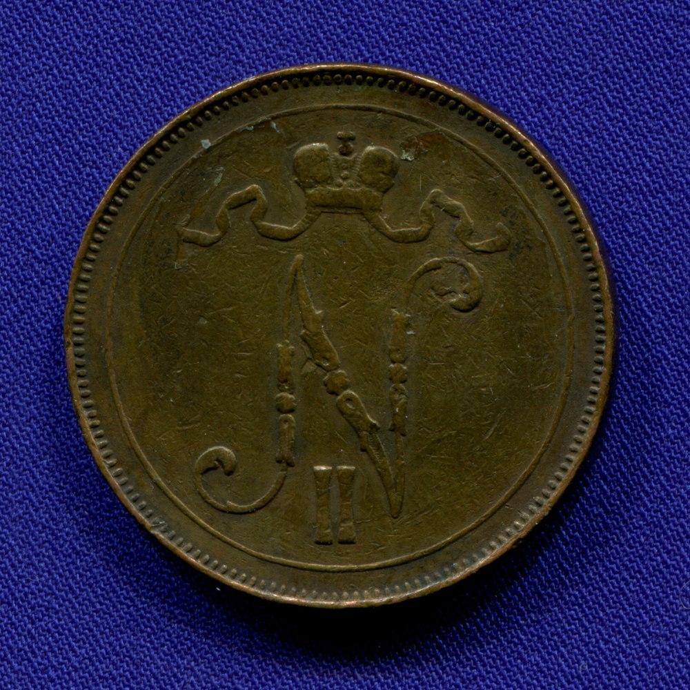 Николай II 10 пенни 1907 VF+ - 1