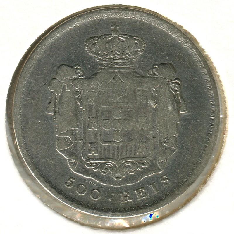 Португалия 500 рейс 1856 #494 VF - 1