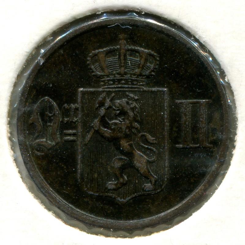 Норвегия 1 эре 1884 #352 GVF - 1
