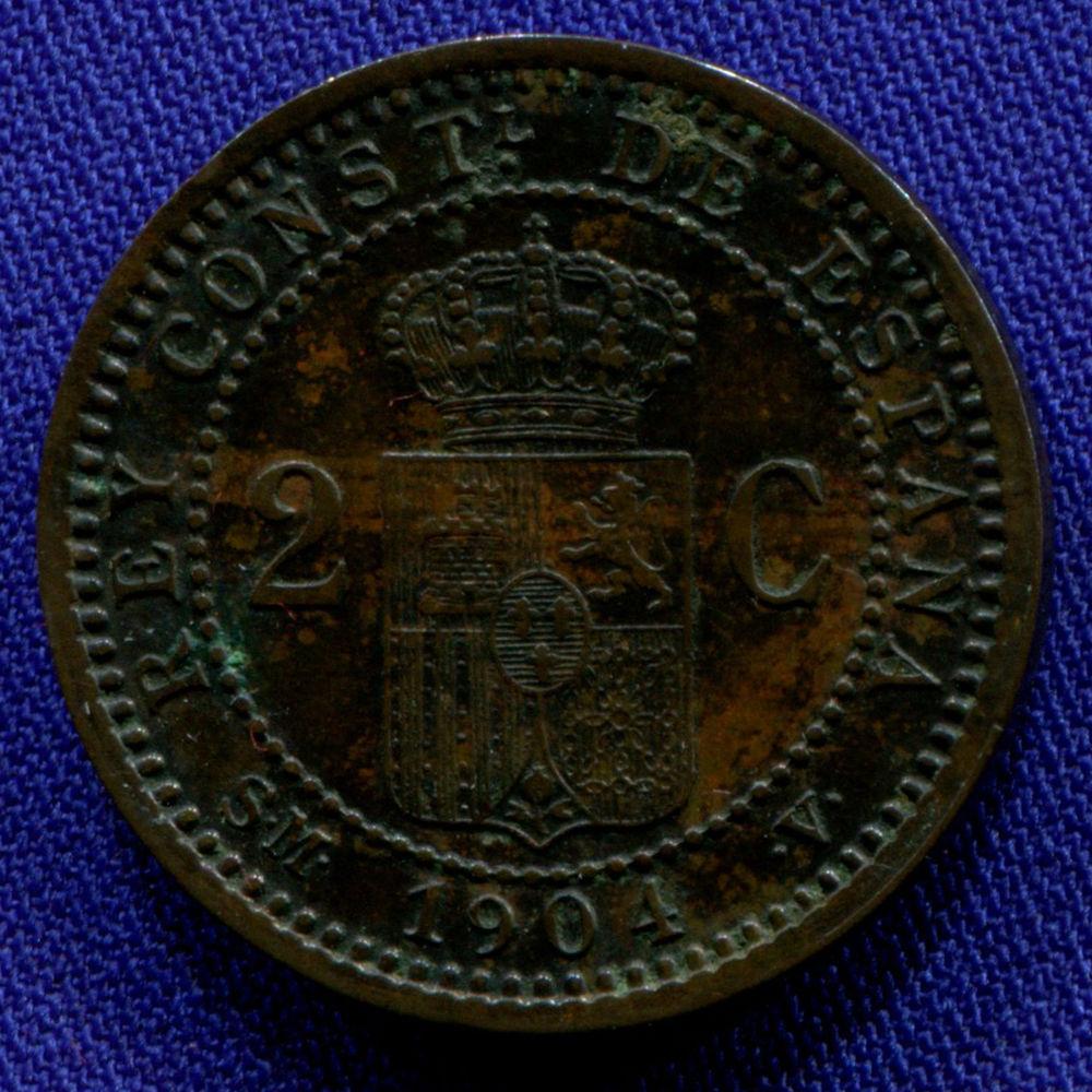 Испания 2 сантима 1904 aUNC  - 1