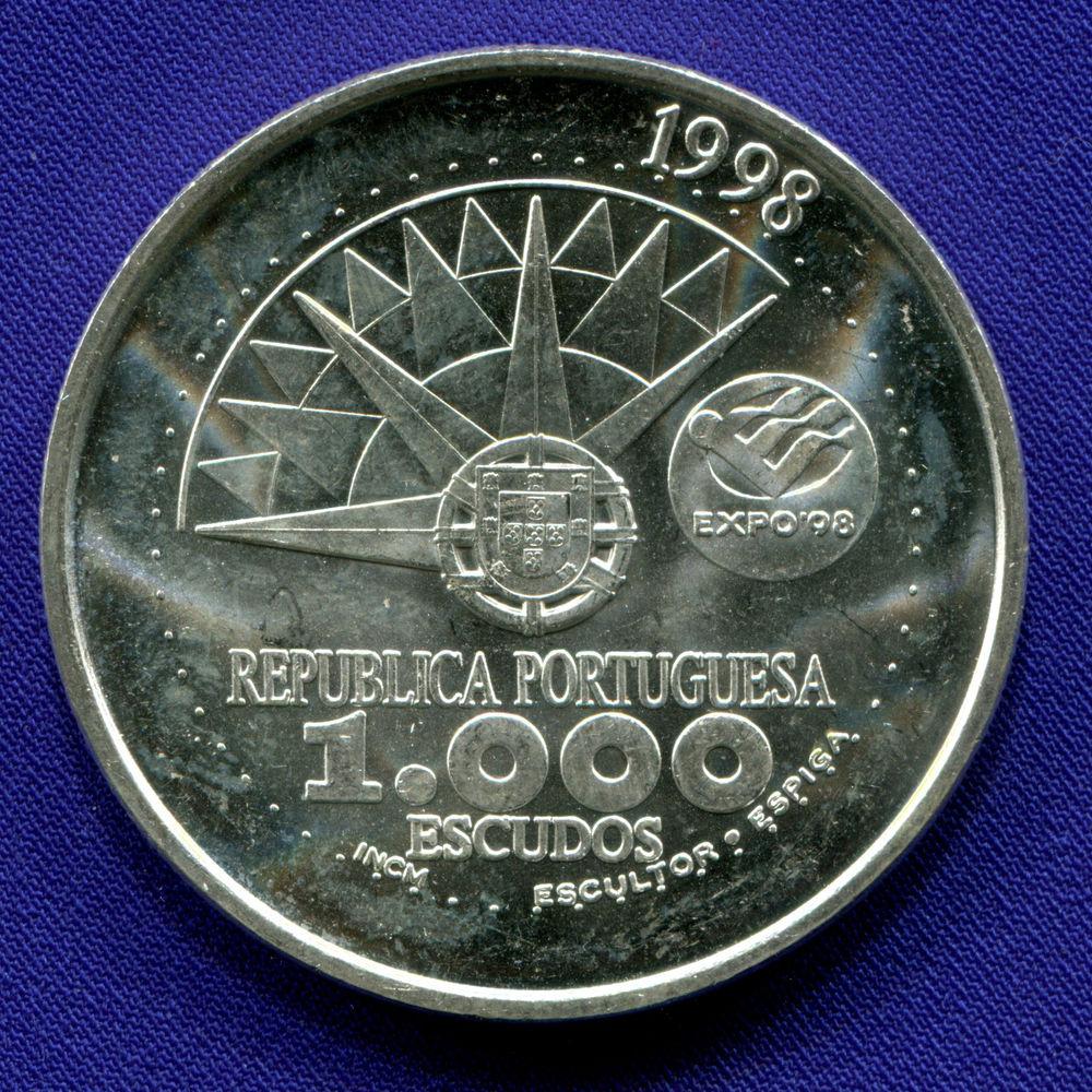 Португалия 1000 эскудо 1998 UNC Год океанов  - 1