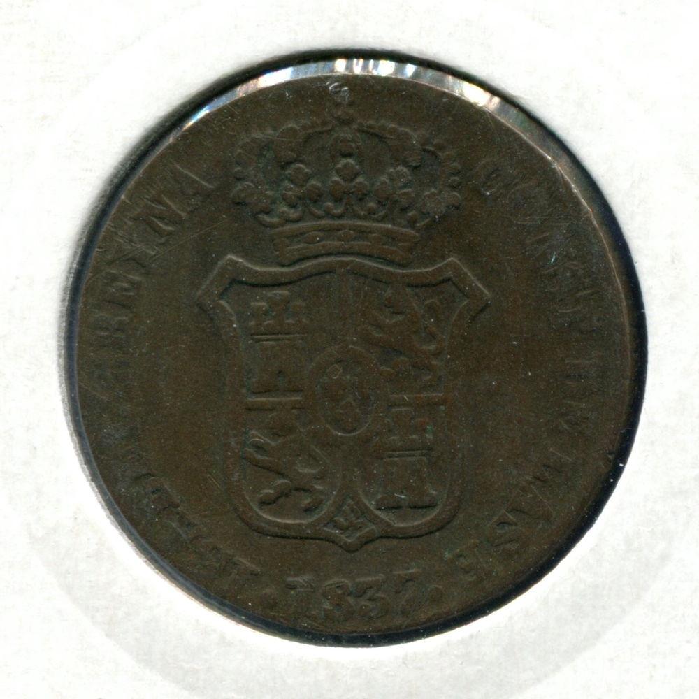Испания/Каталония 3 кварта 1837 VF  - 1