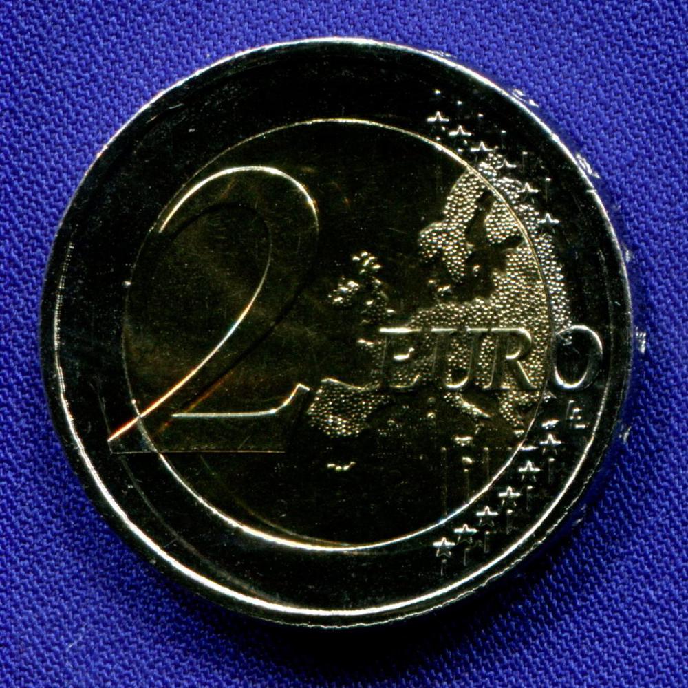 Словакия 2 евро 2018 UNC 25 лет Словацкой республике  - 1