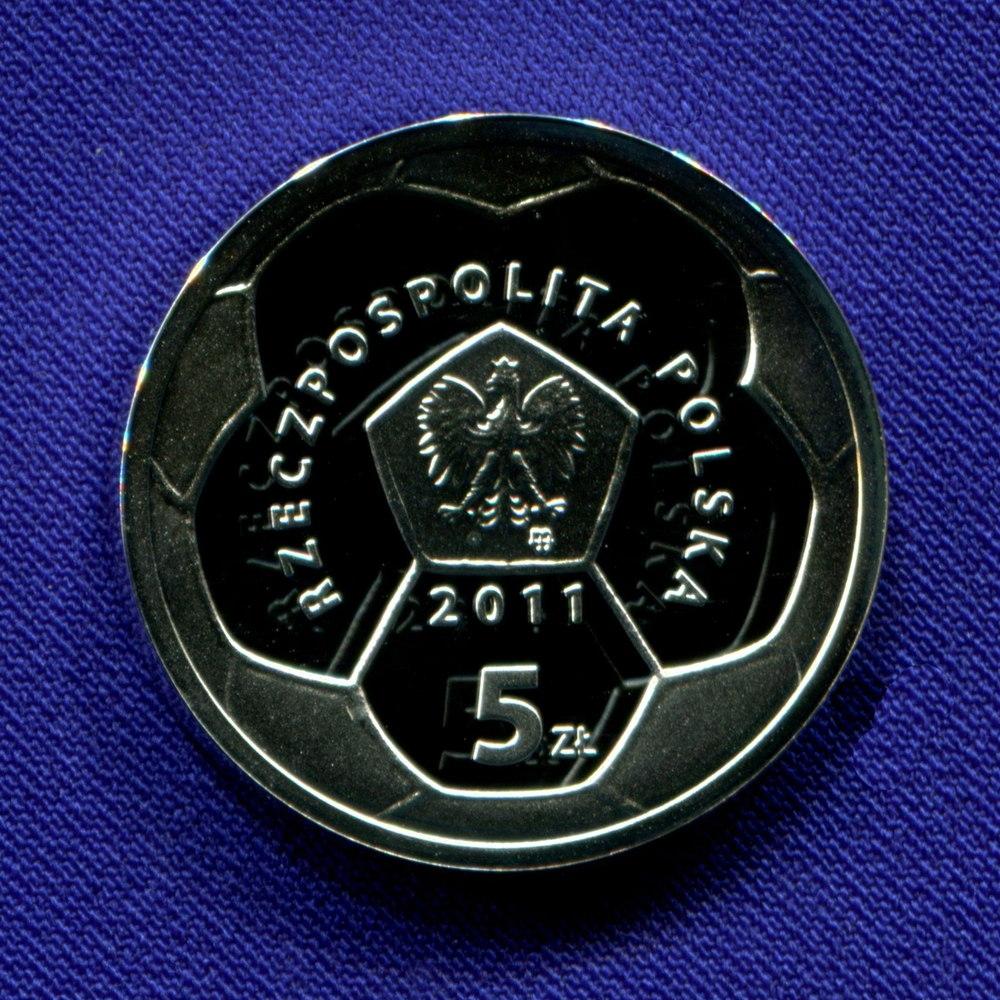 Польша 5 злотых 2011 Proof Футбольный клуб Полония.Варшава  - 1
