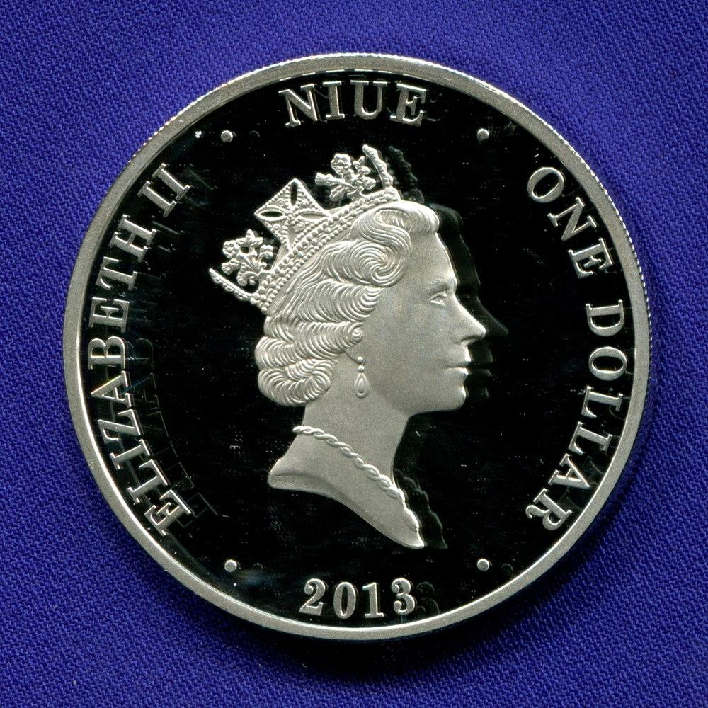 Ниуэ 1 доллар 2013 Proof Открытие нефти в Австралии  - 1