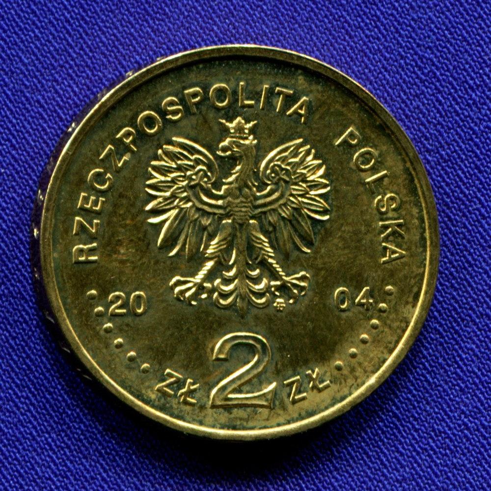 Польша 2 злотых 2004 UNC Станислав Сосабовский    - 1