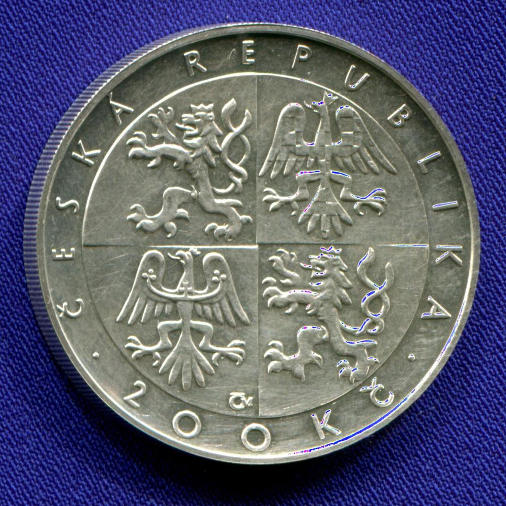Чехия 200 крон 1996 aUNC Чешская Рождественская месса  - 1