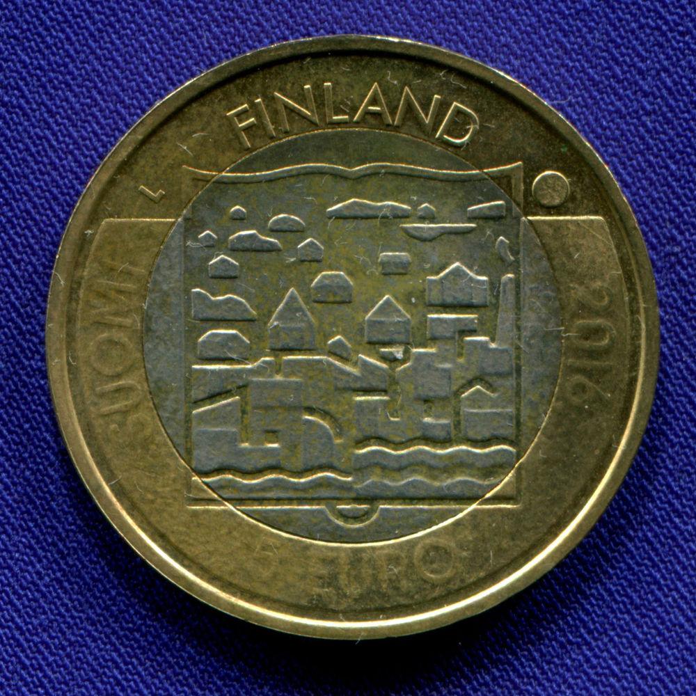 Финляндия 5 евро 2016 aUNC Каарло Юхо Стольберг  - 1