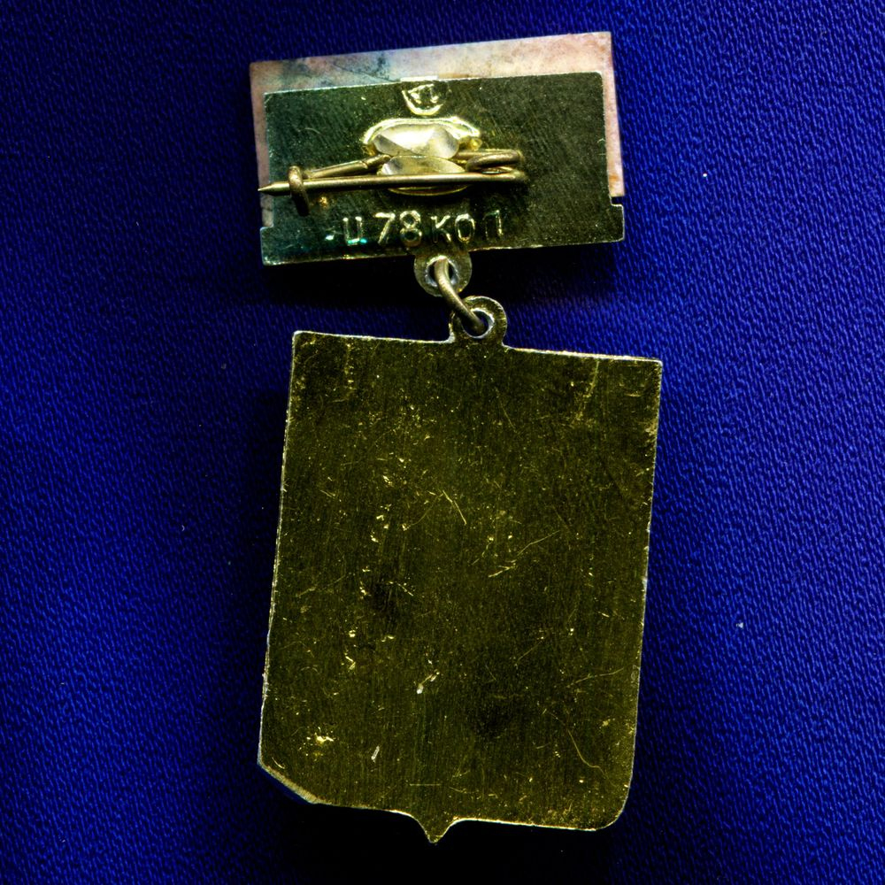 Значок «Ревда» Подвес Алюминий Камень  УС Булавка - 1