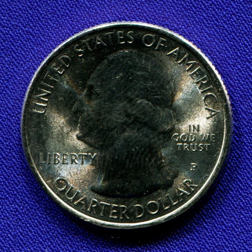 США 25 центов 2015 aUNC Парк Саратога  - 1