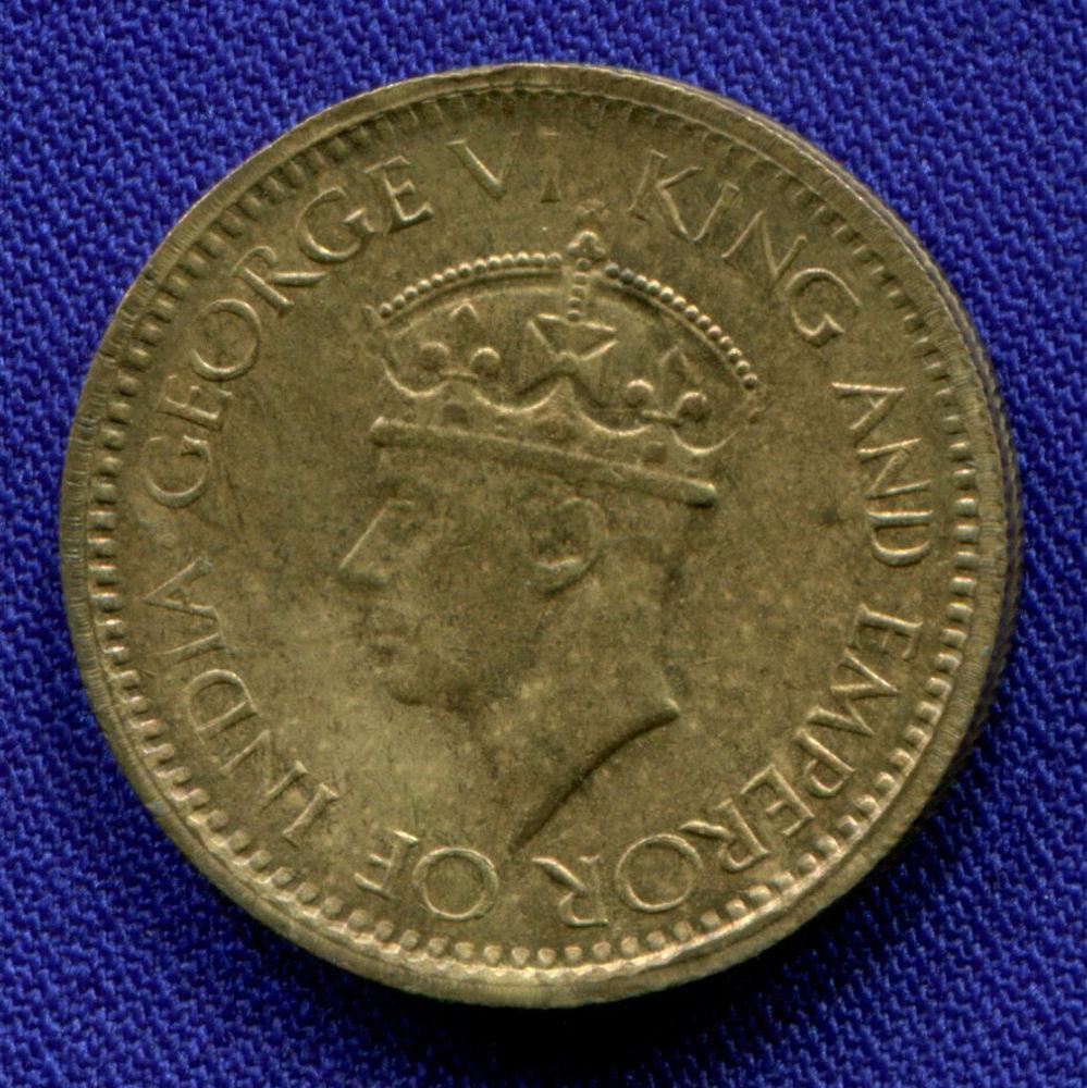 Цейлон 25 центов 1943 UNC  - 1