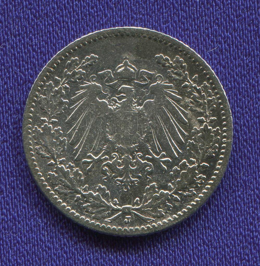 Германия/Рейх 1/2 марки 1905 VF  - 1