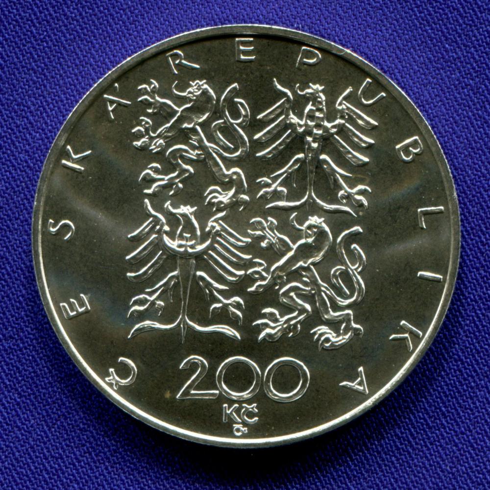 Чехия 200 крон 1997 aUNC 100 летие основания Чешского атлетического союза - 1
