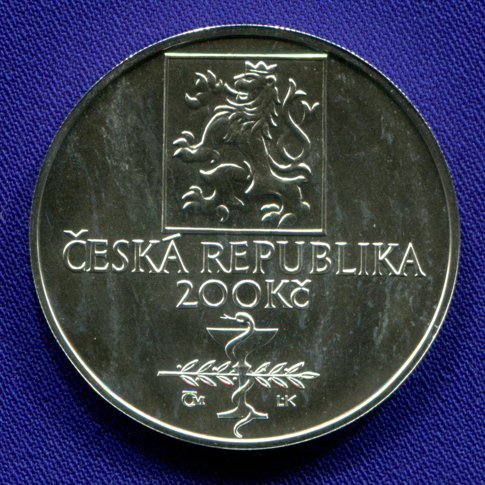 Чехия 200 крон 2003 UNC 150 лет со дня рождения Иосифа Томайера  - 1