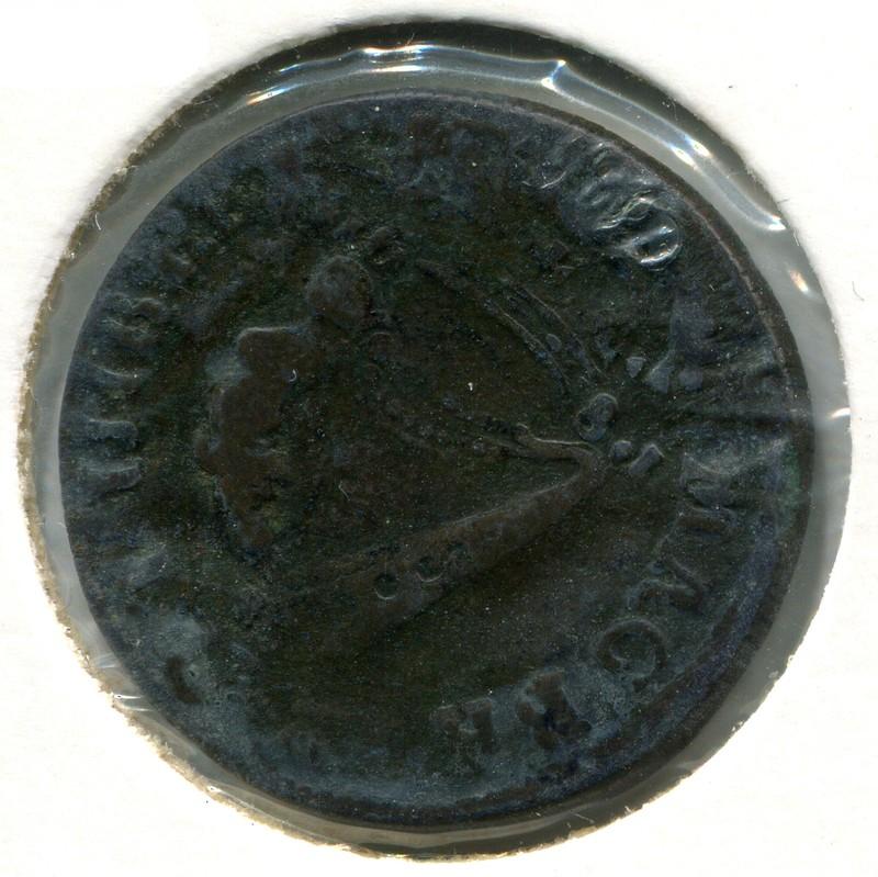 Ирландия 1/2 пенни 1681 #90.1 - 1