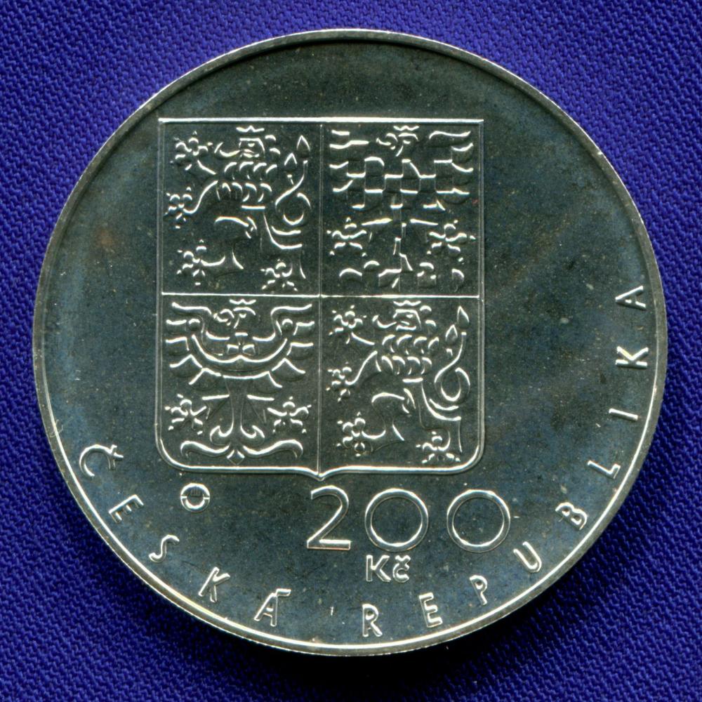 Чехия 200 крон 1994 UNC 650 лет Собору Святого Вита  - 1
