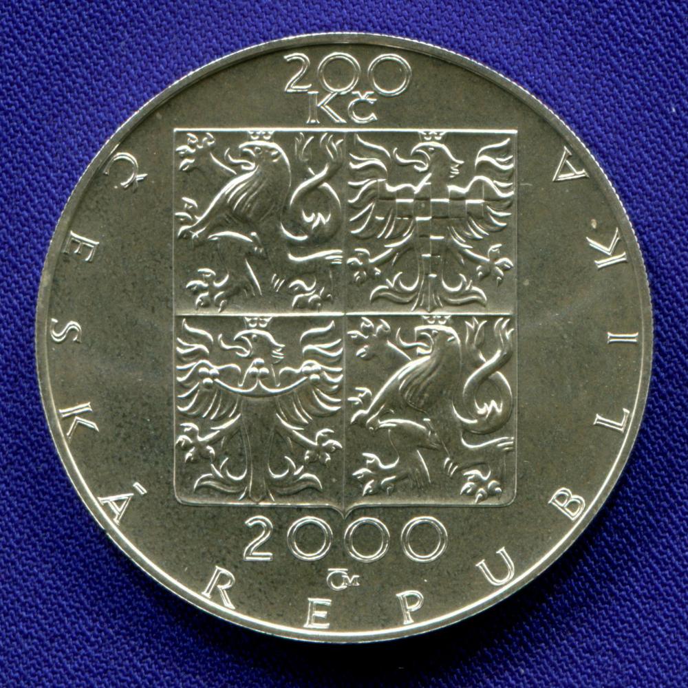 Чехия 200 крон 2000 UNC 150 лет со дня рождения Зденека Фибиха  - 1