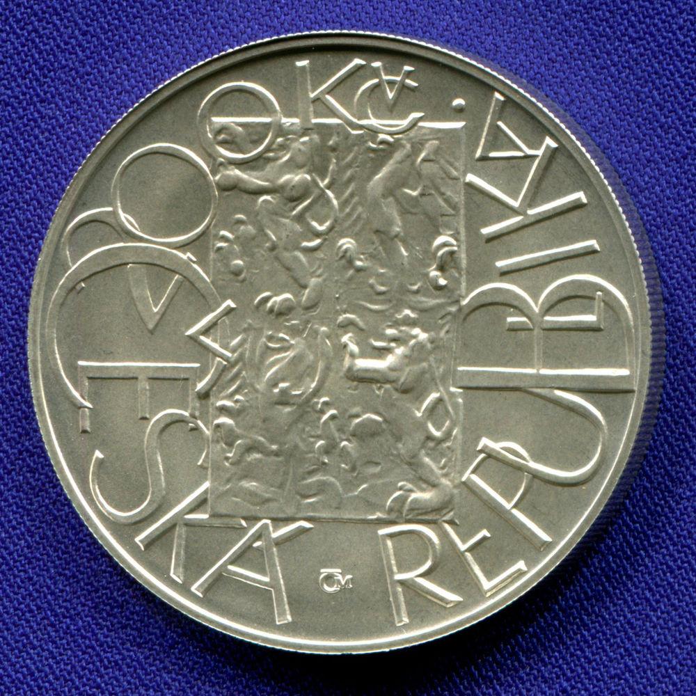 Чехия 200 крон 2001 UNC Система Евро  - 1