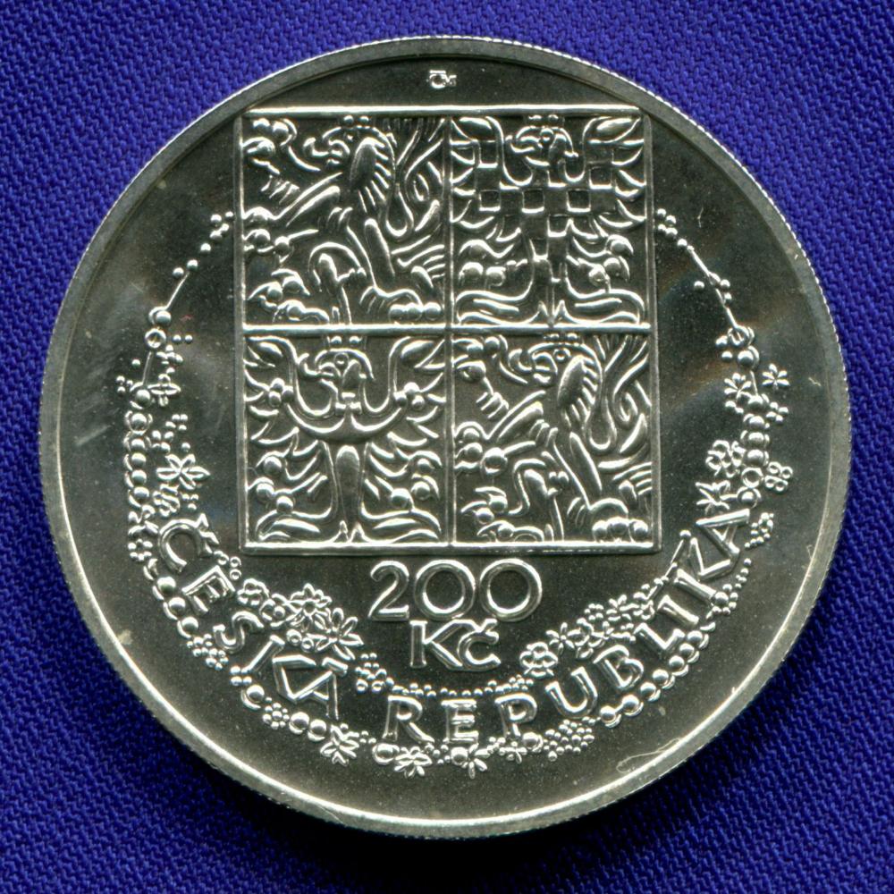Чехия 200 крон 1996 UNC Карел Сволинский  - 1