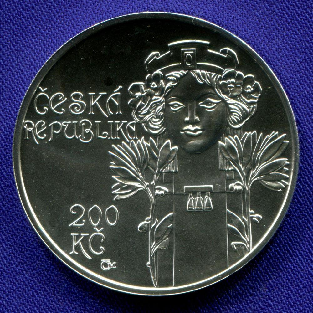 Чехия 200 крон 2012 UNC Открытие муниципального дома в Праге  - 1