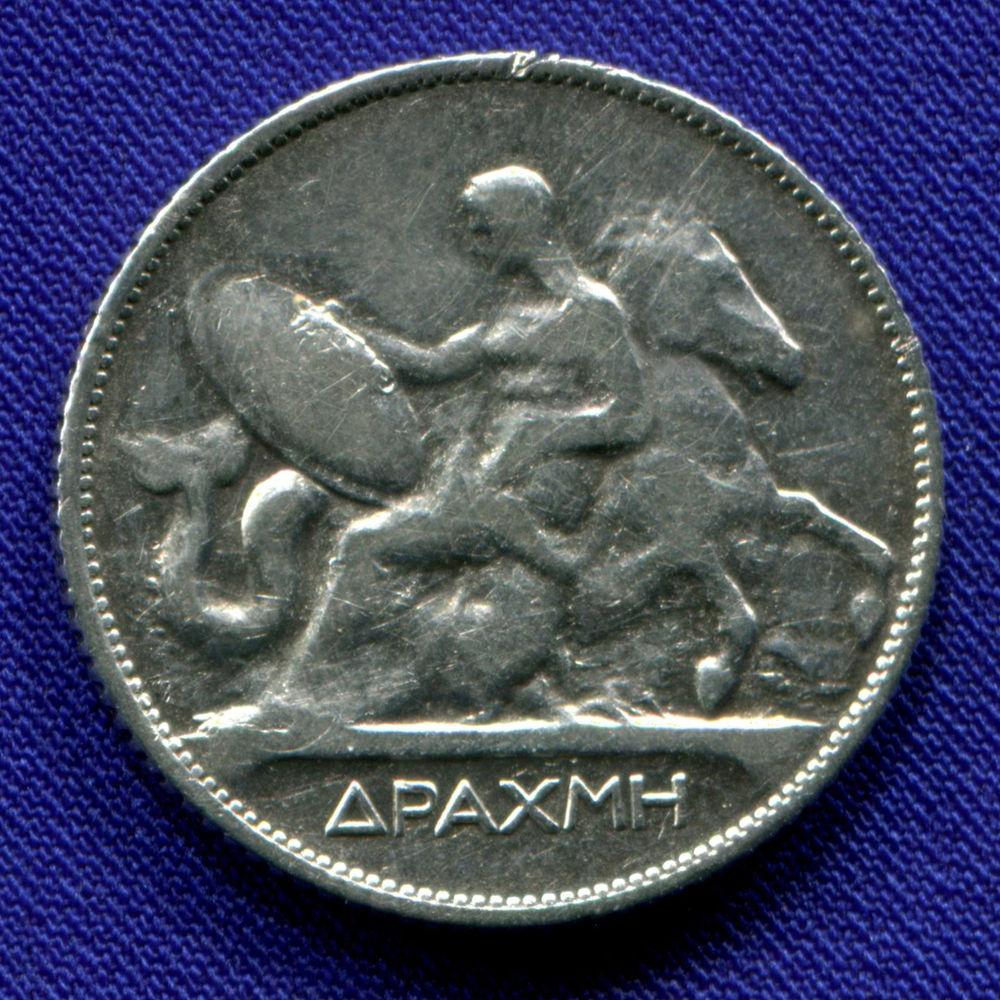 Греция 1 драхма 1910 VF - 1