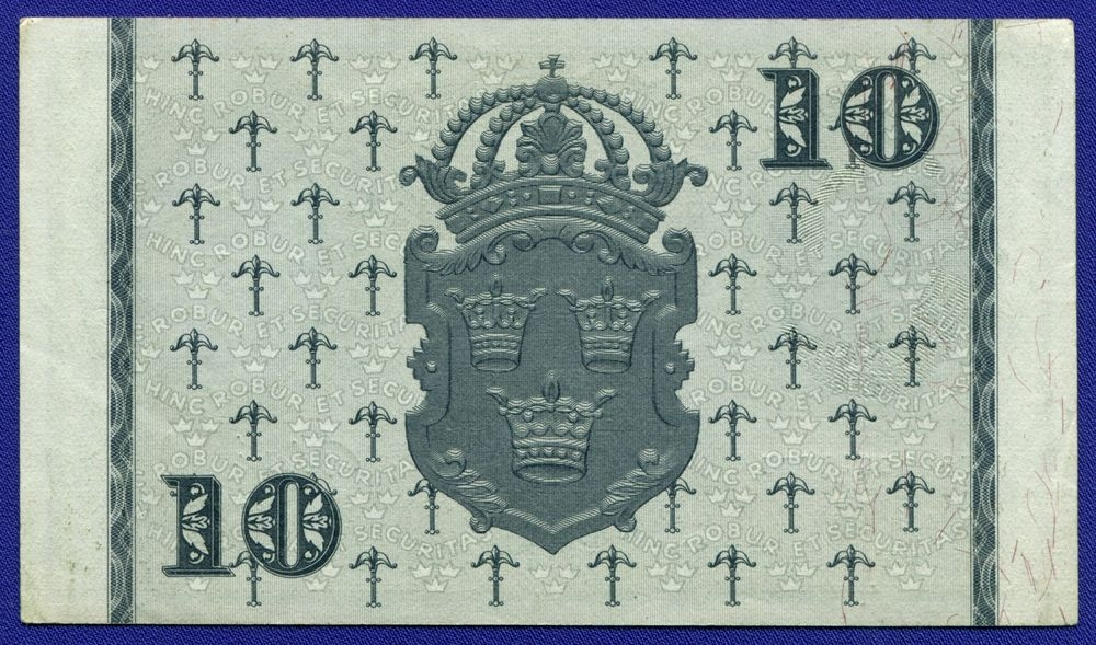 Швеция 10 крон 1956 XF - 1