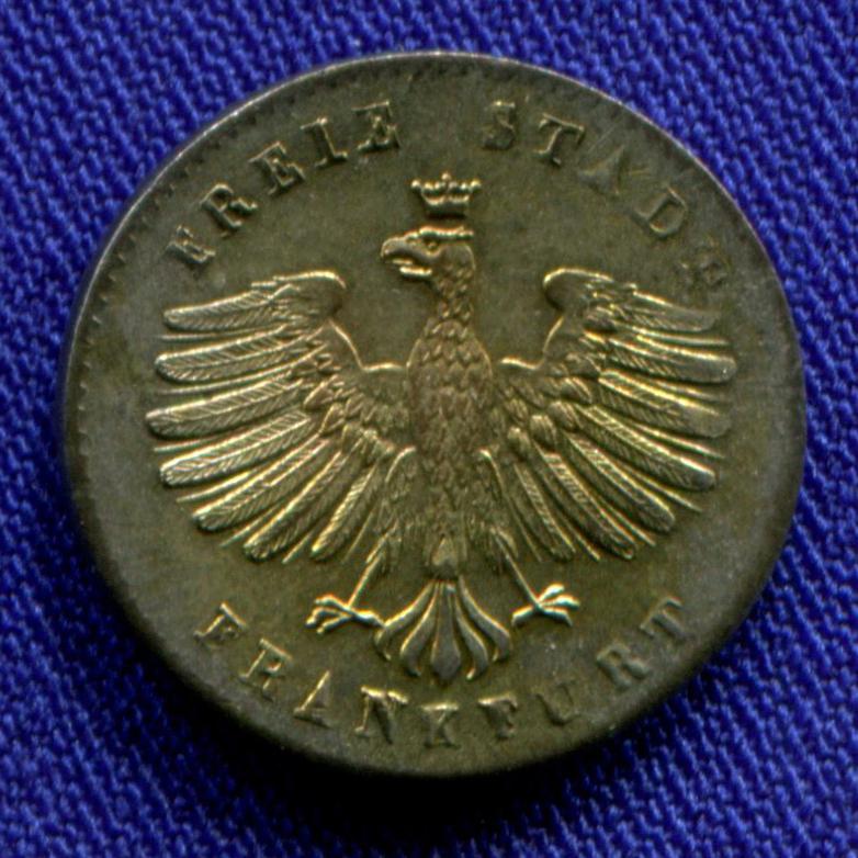 Германия/Франкфурт 1 крейцер 1842 UNC  - 1