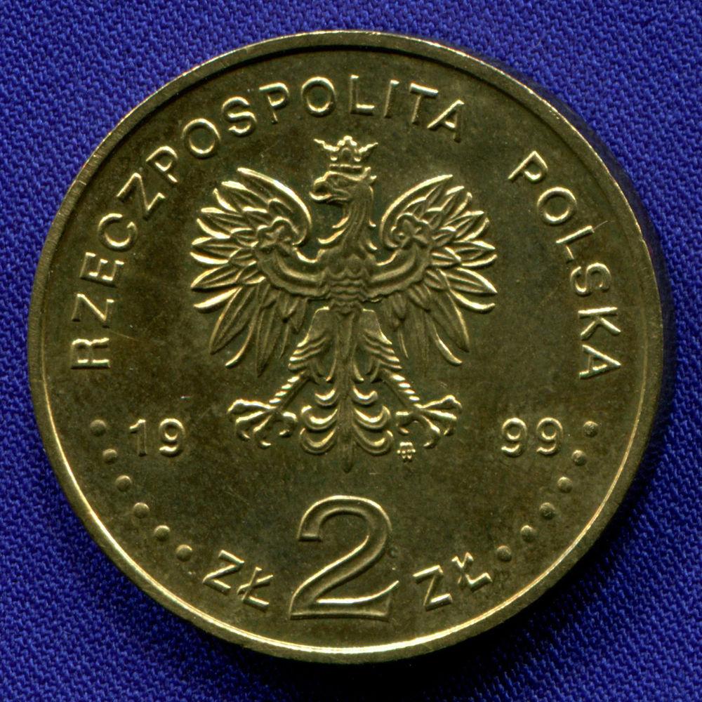 Польша 2 злотых 1999 aUNC Эрнест Малиновский  - 1