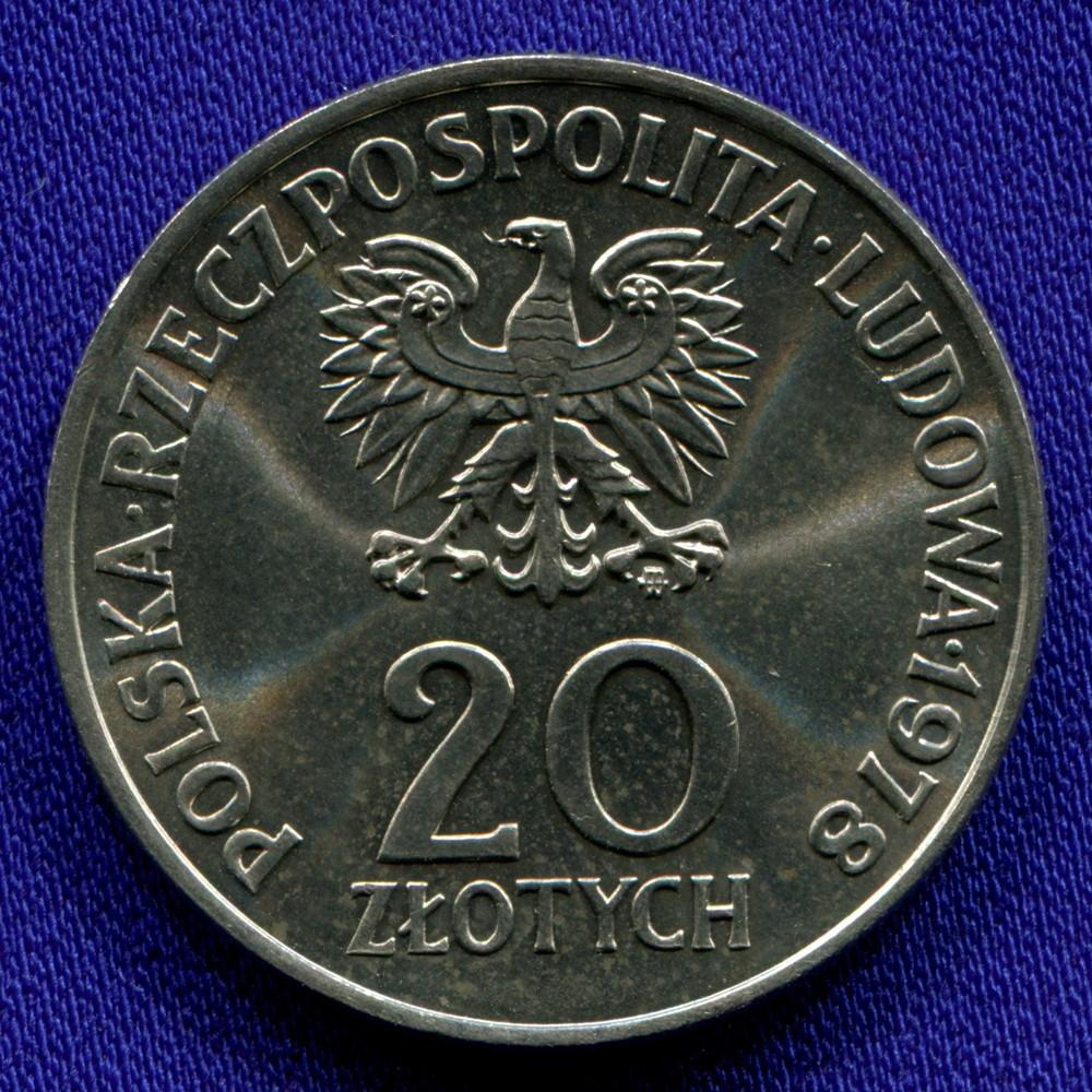 Польша 20 злотых 1978 UNC - 1
