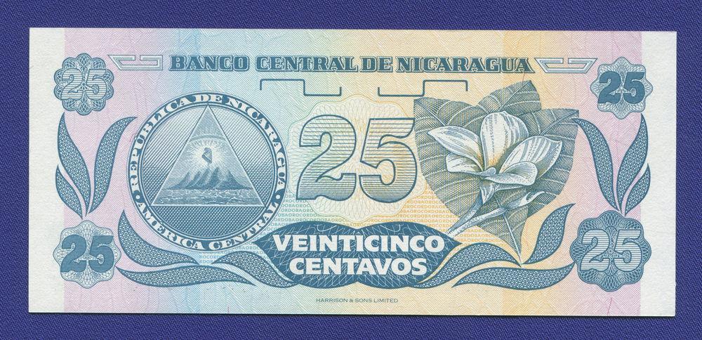 Никарагуа 25 сентаво 1991 UNC - 1