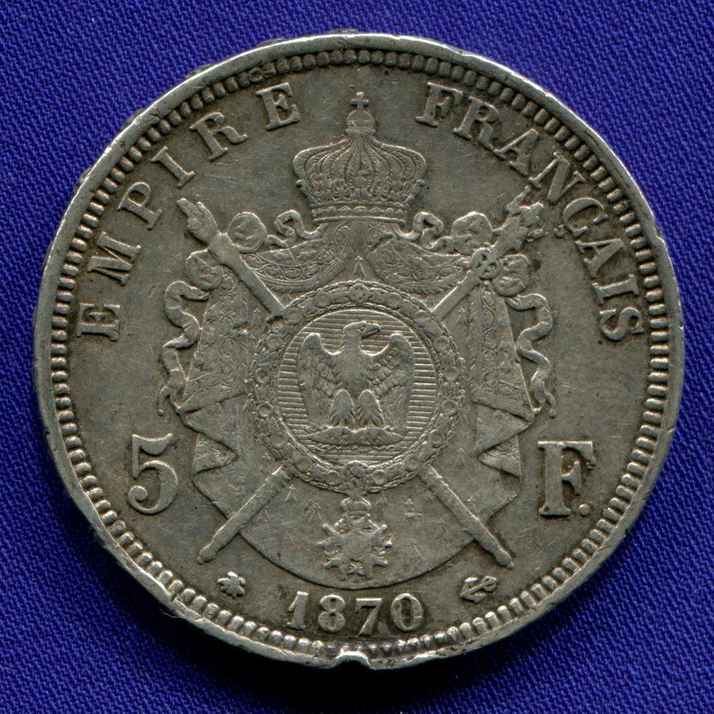 Франция 5 франков 1870 VF  - 1