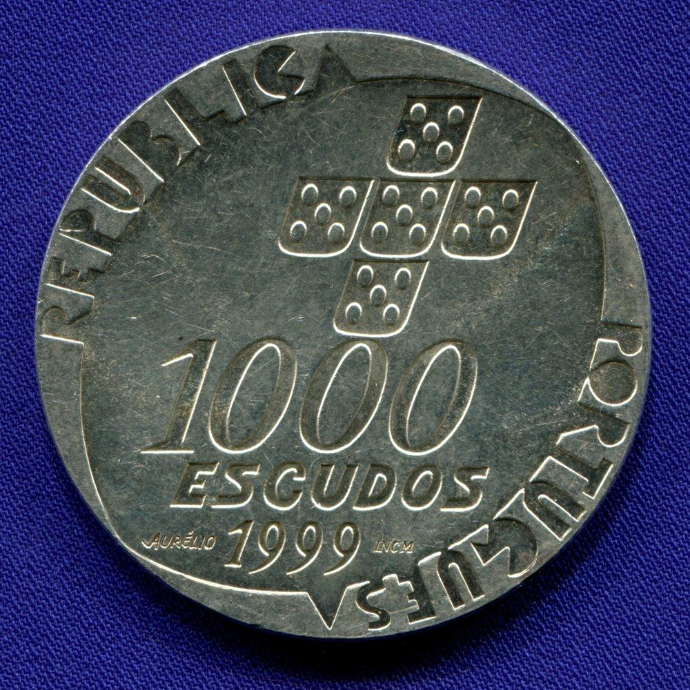 Португалия 1000 эскудо 1999 aUNC 25 лет Революции 25 апреля  - 1