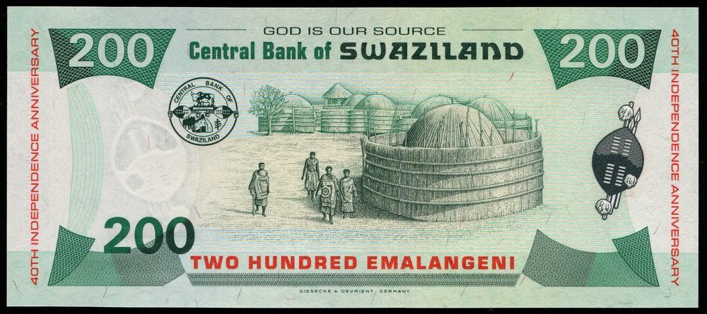 Свазиленд 200 эмаланг 2008 UNC - 1