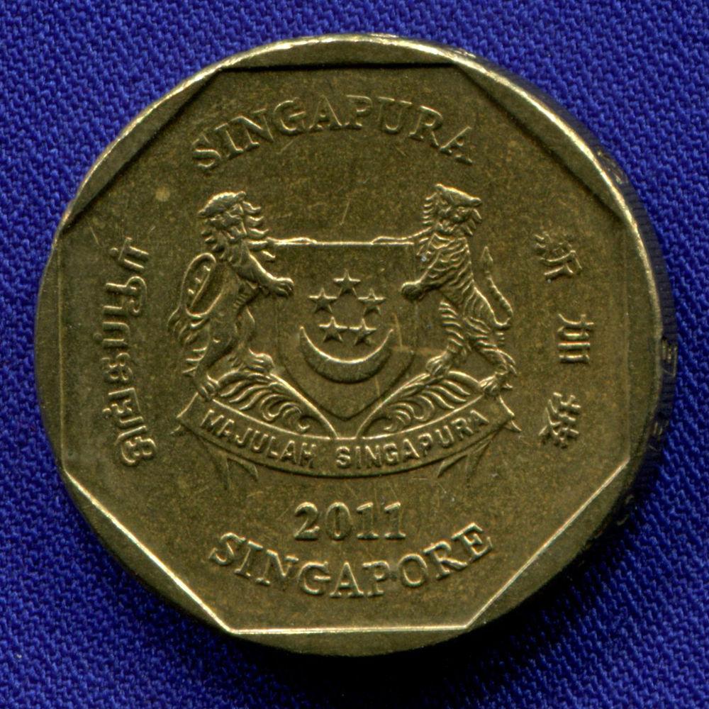 Сингапур 1 доллар 2011 aUNC  - 1