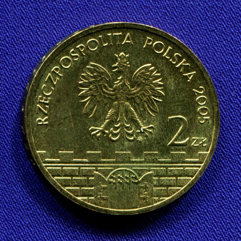 Польша 2 злотых 2005 UNC Цешин  - 1