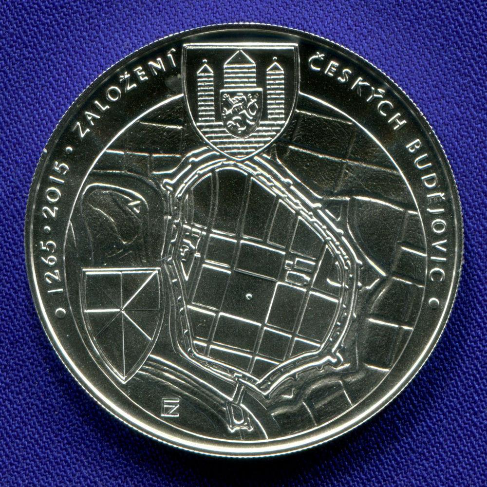 Чехия 200 крон 2015 UNC 750 лет образования Чешских Будеёвиц  - 1