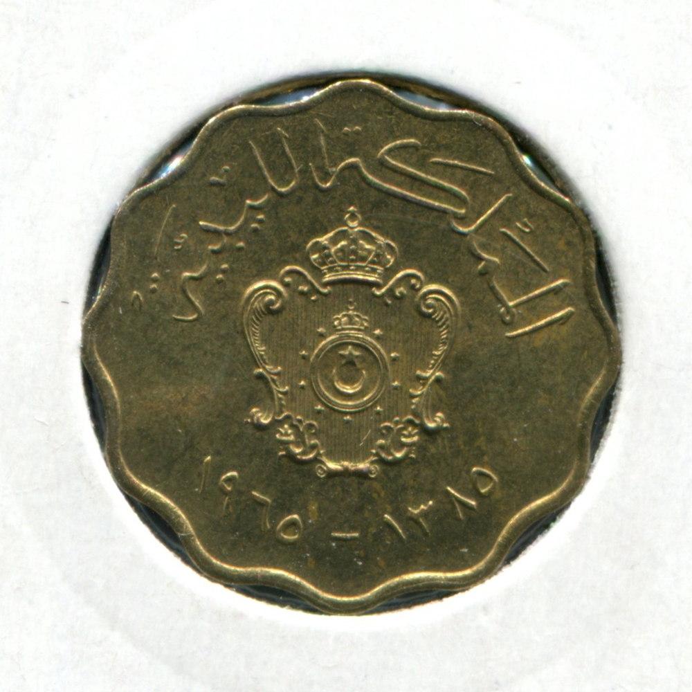 Ливия 5 мильемов 1965 UNC  - 1