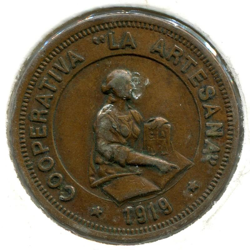 La ARTESANA SAN MARTIN PROVENSALS 10 сантимов 1919 - 1