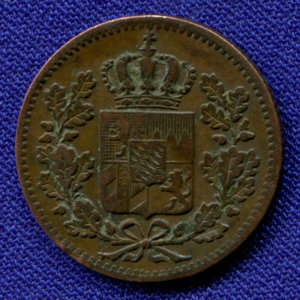 Германия/Бавария 1 пфенниг 1848 VF  - 1